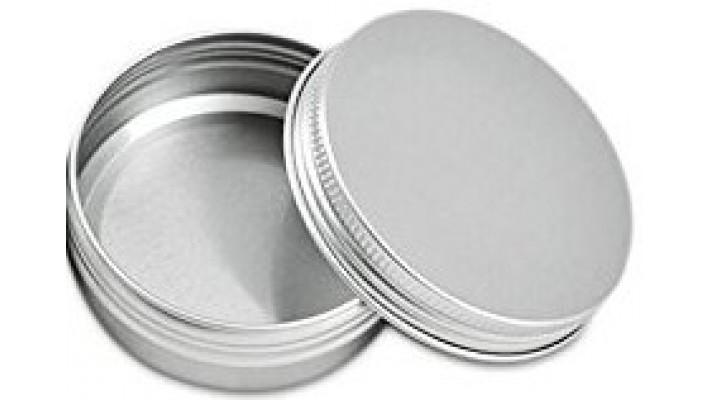 Boîte Ronde antidérapante en aluminium pour Shampoing solide